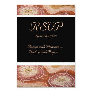 Aboriginal Wedding RSVP Desert Dreaming Card
