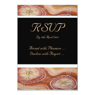 Aboriginal Wedding RSVP Desert Dreaming Card 9 Cm X 13 Cm Invitation Card