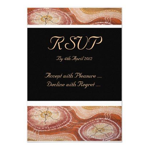 Aboriginal Wedding RSVP Desert Dreaming Card Custom Announcements