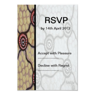 Aboriginal Wedding RSVP Tribal Land 9 Cm X 13 Cm Invitation Card
