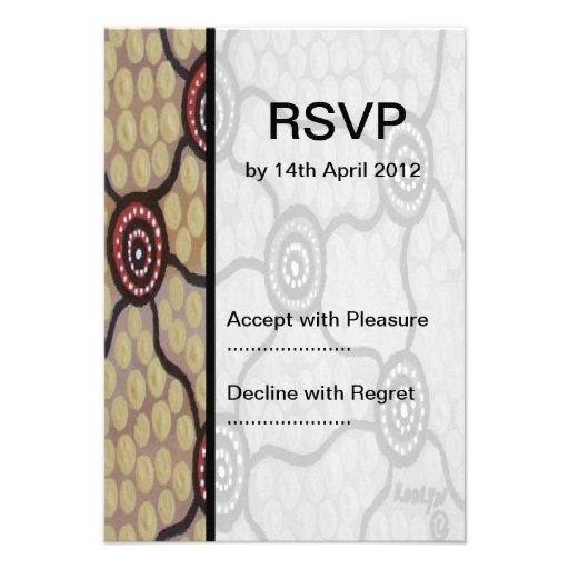 Aboriginal Wedding RSVP Tribal Land Invite