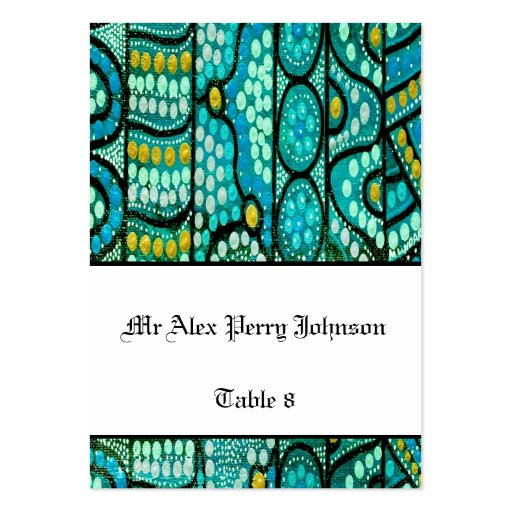 Aboriginal Wedding Table Seating The Journey Blue Business Cards