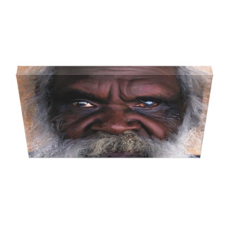 Aborigine Gaze Painting Canvas Print