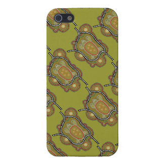 aborigines style wraps with turtle in iPhone 5/5S cover