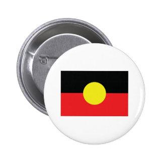aborigini australia flag 6 cm round badge