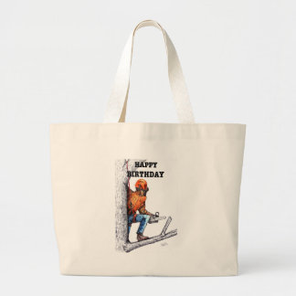 Aborist Tree surgeon Birthday present gift. Large Tote Bag