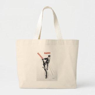 Aborist Tree surgeon christmas present gift Large Tote Bag