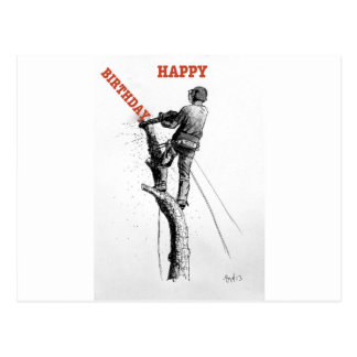 Aborist Tree surgeon christmas present gift Postcard