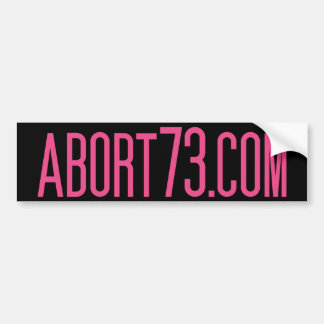 Abort73.com Bumper Sticker
