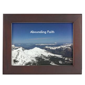 Abounding Faith Mountain Keepsake Box