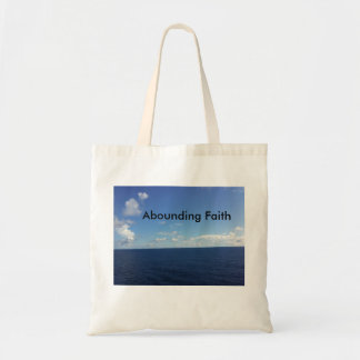 Abounding Faith Tote Bag Ocean