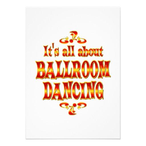 ABOUT BALLROOM DANCING INVITATION