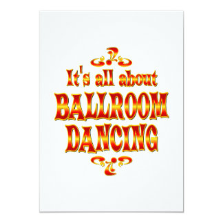 ABOUT BALLROOM DANCING 13 CM X 18 CM INVITATION CARD