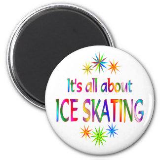About Ice Skating 6 Cm Round Magnet