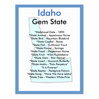 About Idaho Postcard
