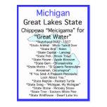 About Michigan Postcard