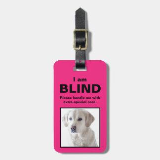 [About My Dog] Blind Deaf Cat Dog Luggage Tag