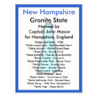About New Hampshire Postcard