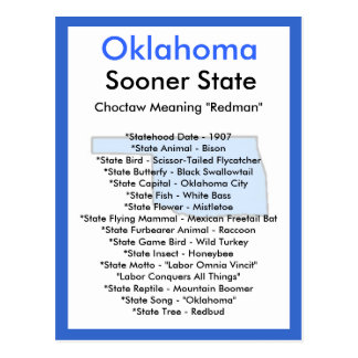 About Oklahoma Postcard