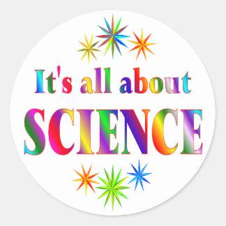 About Science Round Sticker