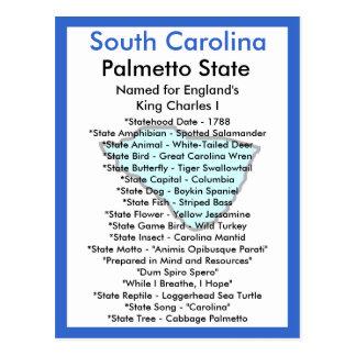 About South Carolina Postcard