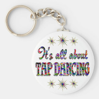 About Tap Dancing Basic Round Button Key Ring