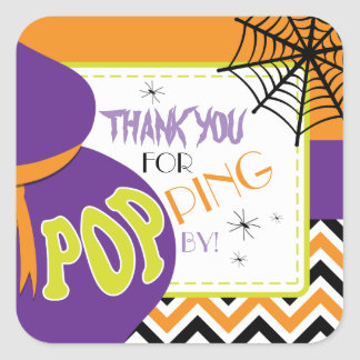 About to POP Halloween Favor Stickers