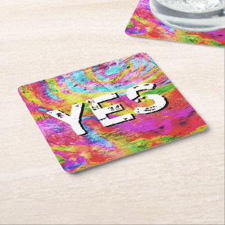 Above 1 Peter 4 Square Paper Coaster