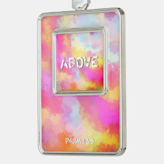Above All Silver Plated Framed Ornament