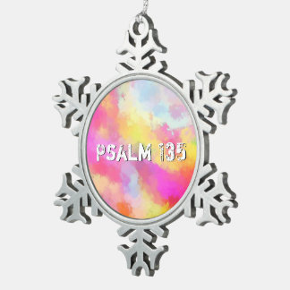 Above All Snowflake Pewter Christmas Ornament
