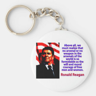 Above All We Must Realize - Ronald Reagan Key Ring