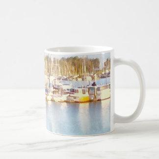 Above and below coffee mug