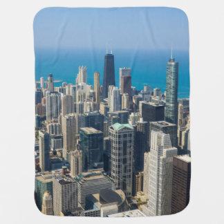 Above Chicago Baby Blanket