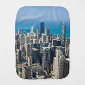 Above Chicago Burp Cloth