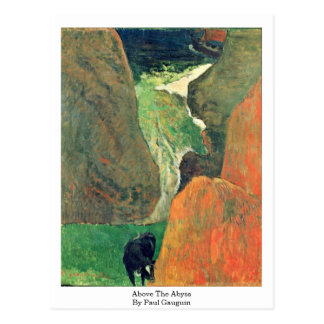 Above The Abyss By Paul Gauguin Postcard