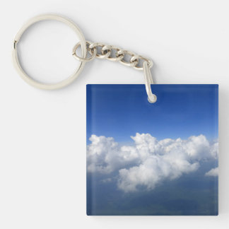 above the clouds 03 square acrylic keychain