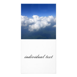 above the clouds 03 personalised photo card