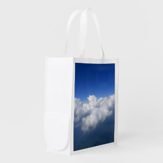above the clouds 03 reusable grocery bag