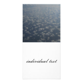 above the clouds 4 customised photo card