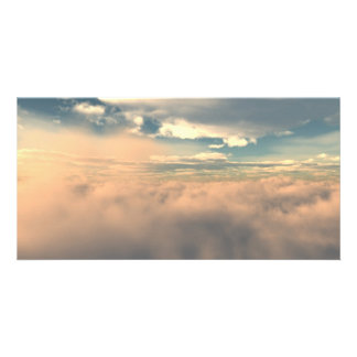 Above The Clouds Custom Photo Card