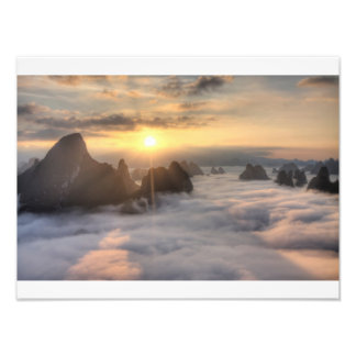 Above the clouds photo print