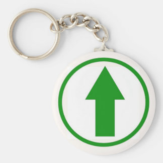 Above the influence - Green Basic Round Button Key Ring