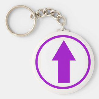 Above the influence - Purple Key Ring