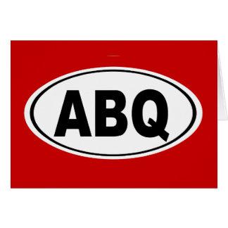 ABQ Albuquerque New Mexico Card