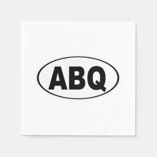ABQ Albuquerque New Mexico Disposable Serviettes