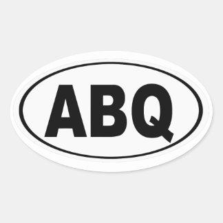 ABQ Albuquerque New Mexico Oval Sticker