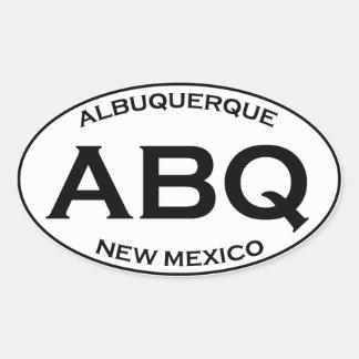 ABQ - Albuquerque New Mexico Oval Sticker