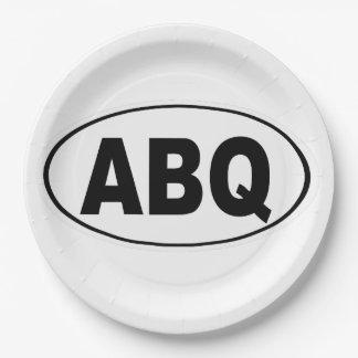 ABQ Albuquerque New Mexico Paper Plate
