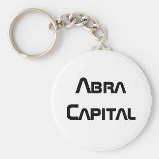 Abra Capital Basic Round Button Key Ring