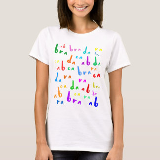 Abracadabra funny colorful text on white T-Shirt